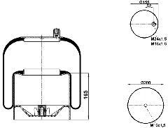 9505 - Légrugó komplett ACTROS 215x215