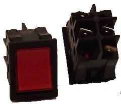 97520110 - Nyomógomb piros 215x215