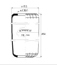 AB455 - Légrugó 215x215