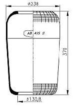 AB455S - Légrugó gumielem 131/238-370 215x215