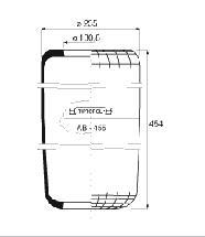 B154 - Légrugó gumielem 1F21 215x215