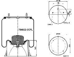 784022-3CPL - Légrugó SAF kpl.2618V,2619V 215x215