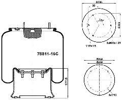 78811-16C - Légrugó 215x215