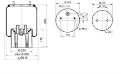 1DK21A4 - Légrugó komplett PH.MUdug. 215x215