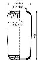 1F20B - Légrugó gumielem MAN 215x215